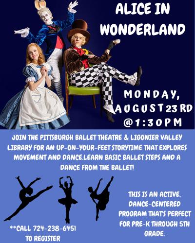 Pittsburgh Ballet Dance the Story--Alice In Wonderland